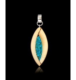 Yuka Small Pendant Mammoth Ivory & Turquoise - YST