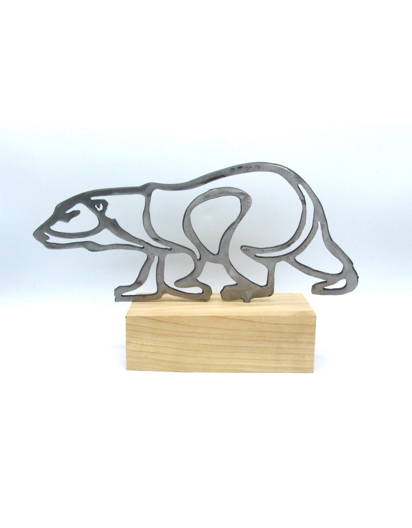 Metal Sculptures - Large Bear