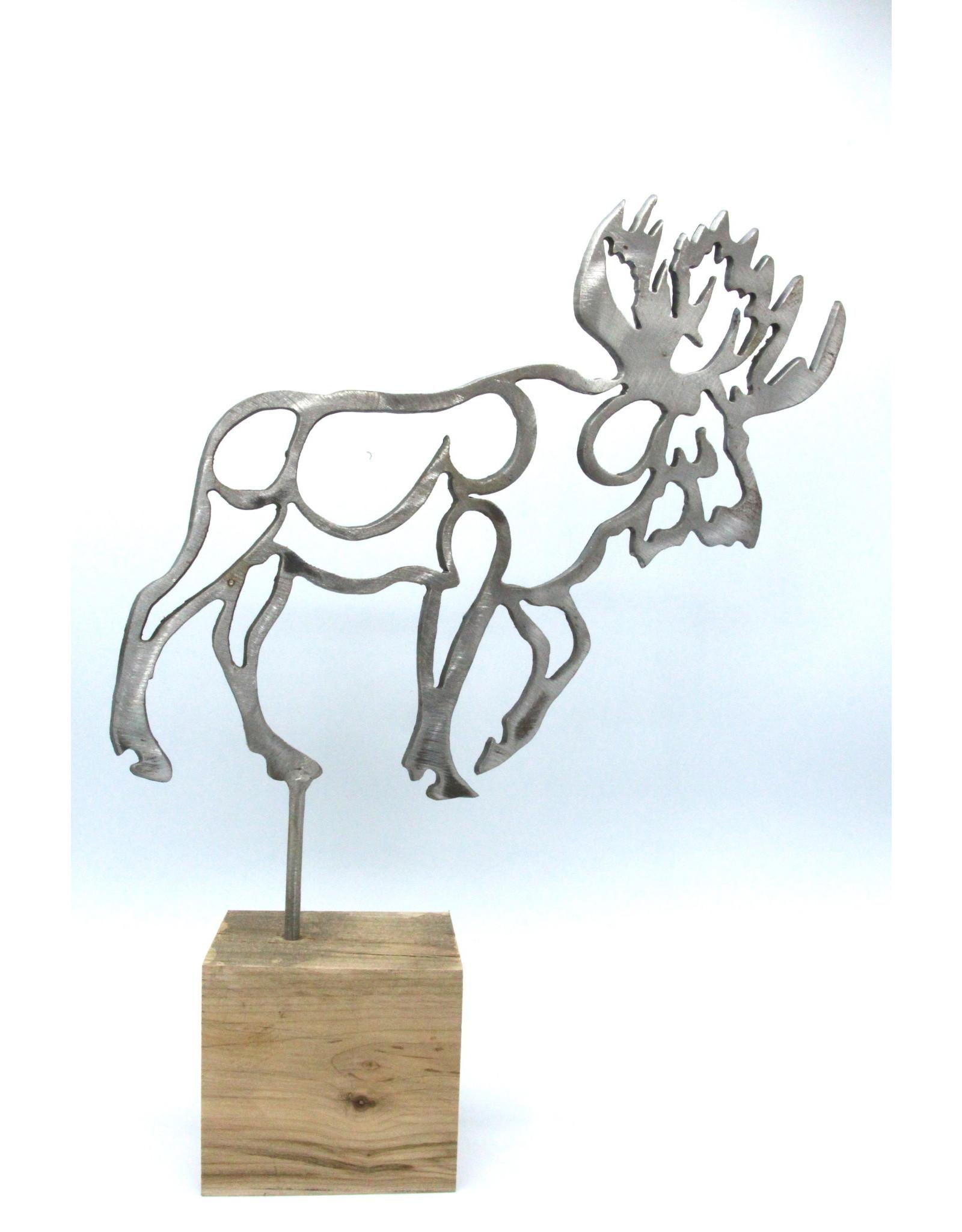 Metal Sculpture - Medium Moose