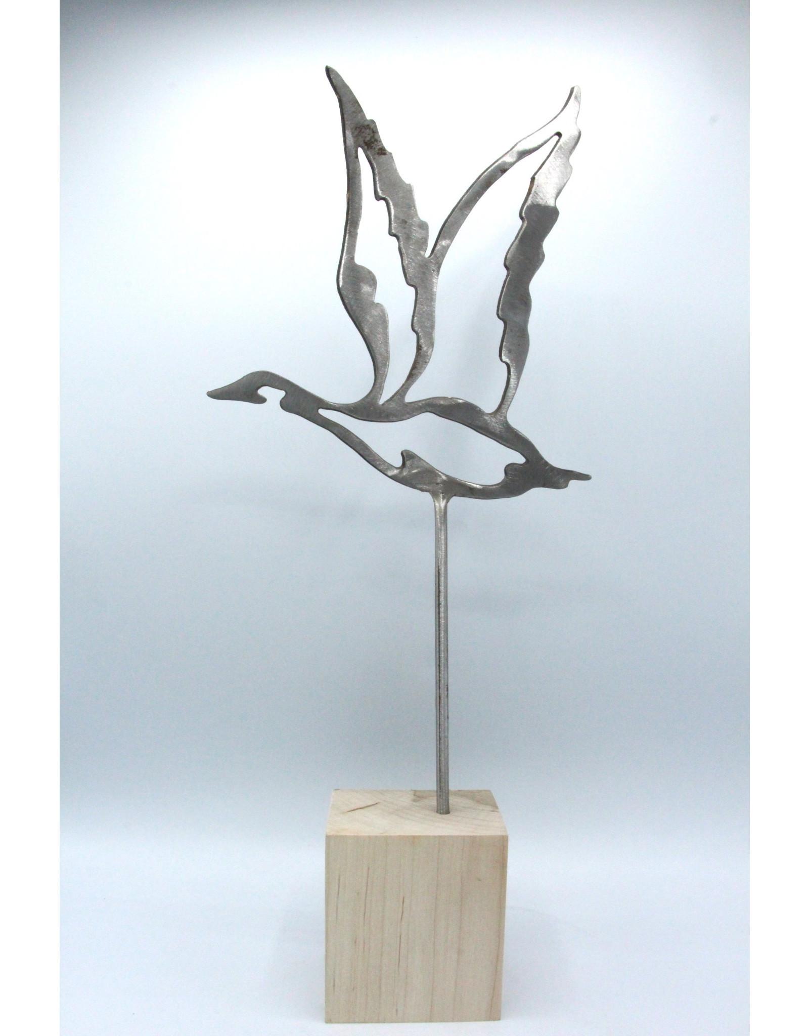 Sculpture en métal - Oies moyennes