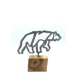 Metal Sculptures - Small Bear