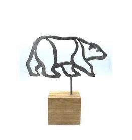 Metal Sculptures - Medium Bear
