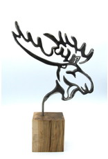 Metal Sculpture - Moose Profile