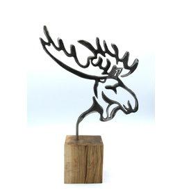 Sculpture en métal - Profil d'orignal