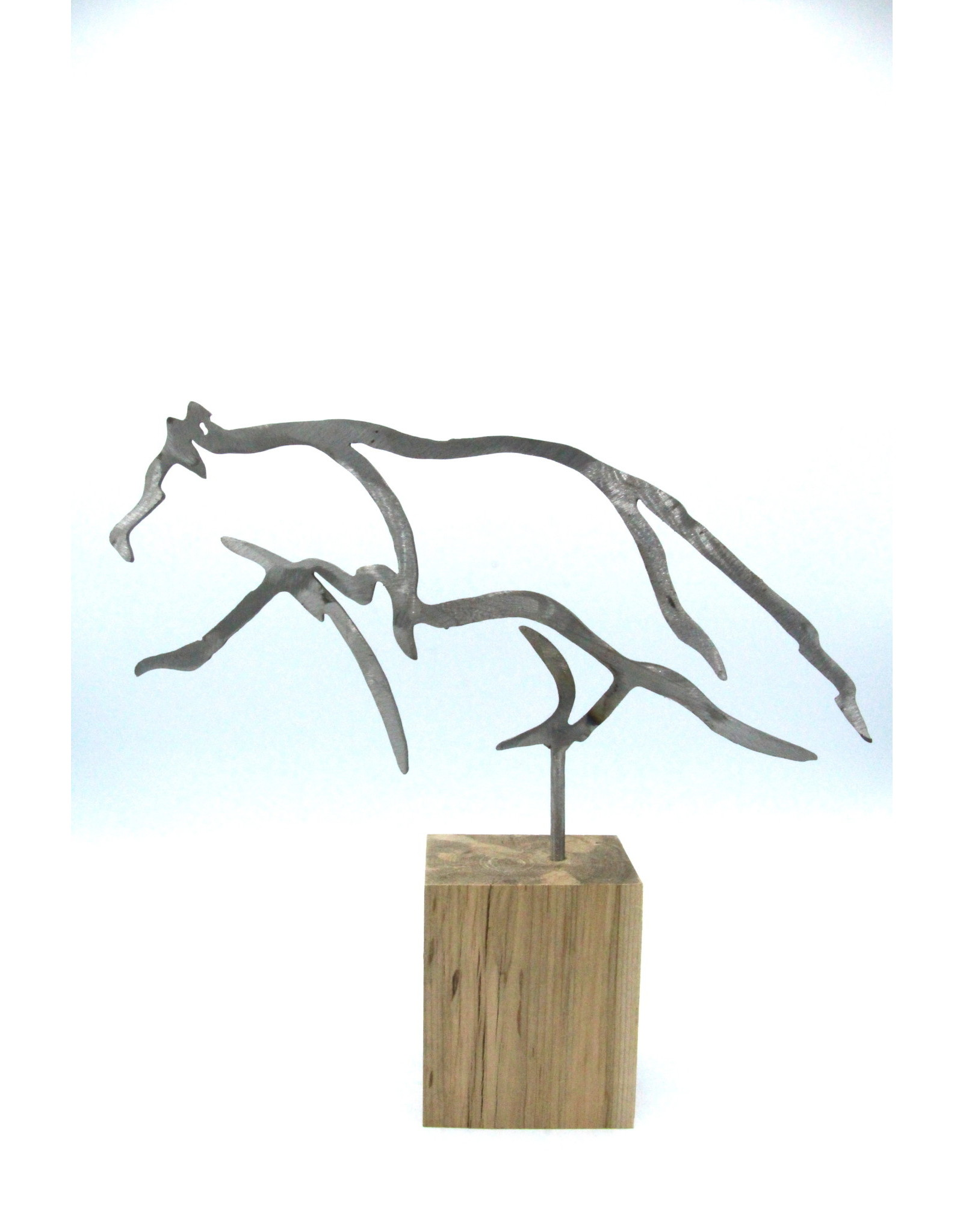 Metal Sculptures - Small Wolf