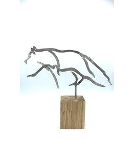 Sculptures en métal - Petit loup