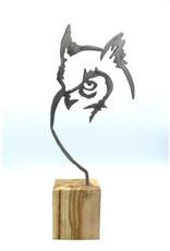 Sculpture en métal - Grand hibou