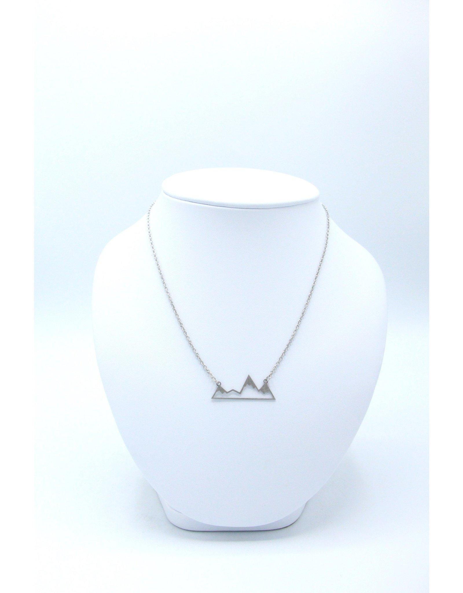 Mountain Necklace Silver