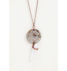 Birch Bark Dreamcatcher Necklace