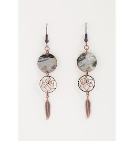 Birch Bark Dreamcatcher Earrings