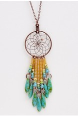 Dreamcatcher Necklace with Beads - DCC20-P