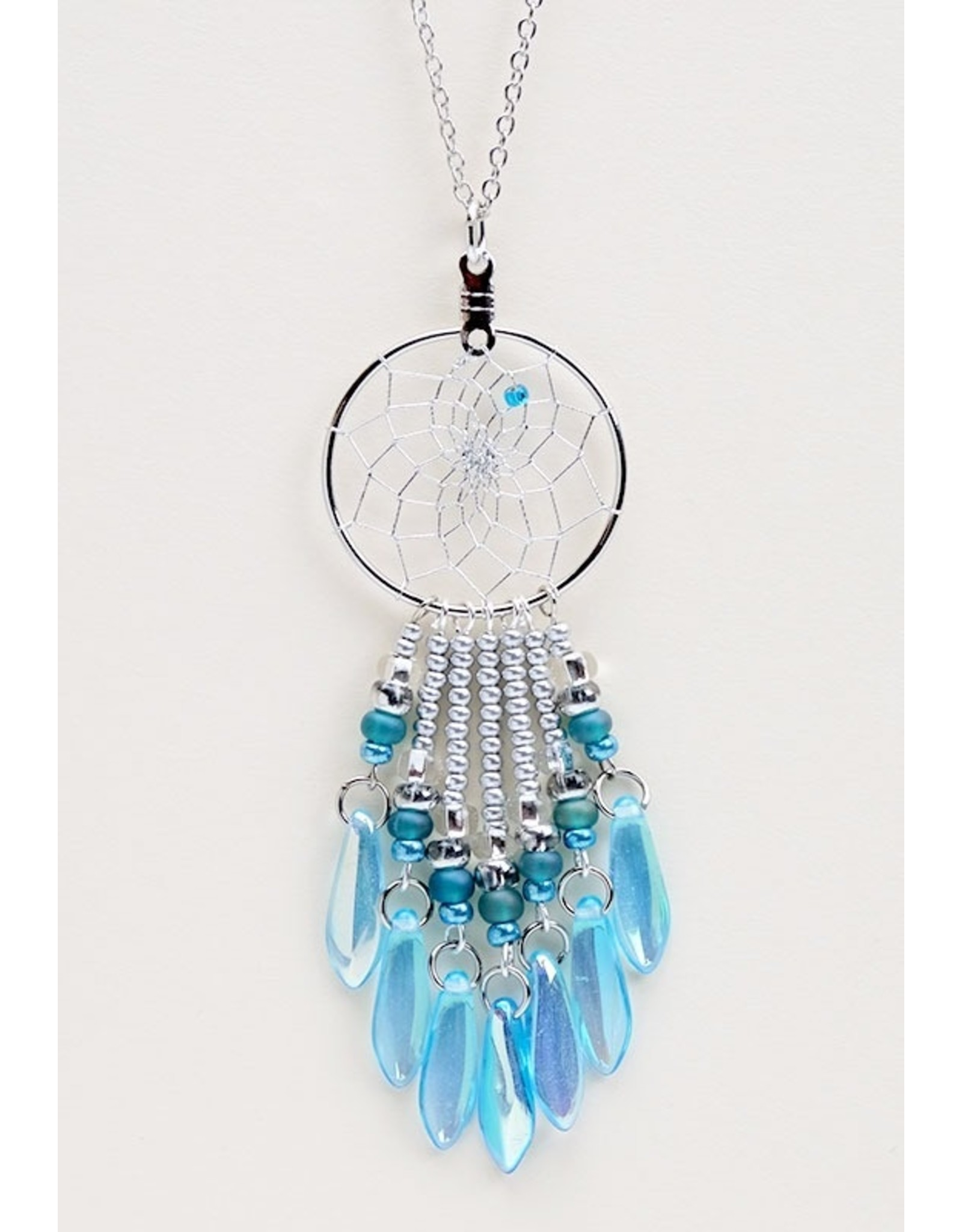 Dreamcatcher Necklace with Beads - DC20-P