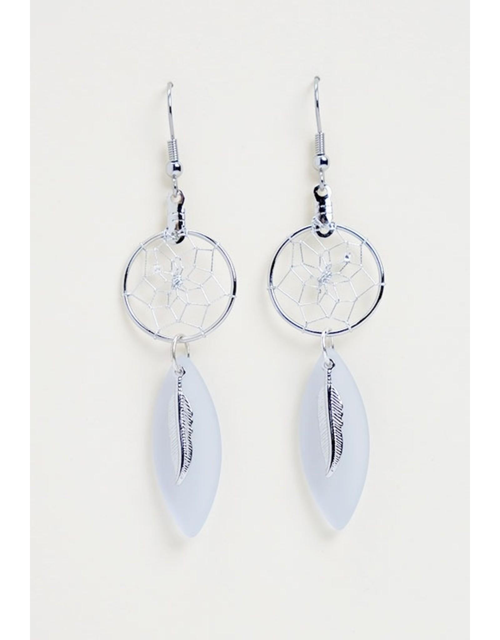 Boucles d'oreilles en verre de mer- DC1602