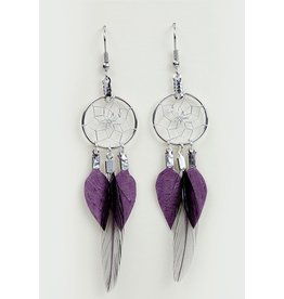Dreamcatcher and Feather Earrings