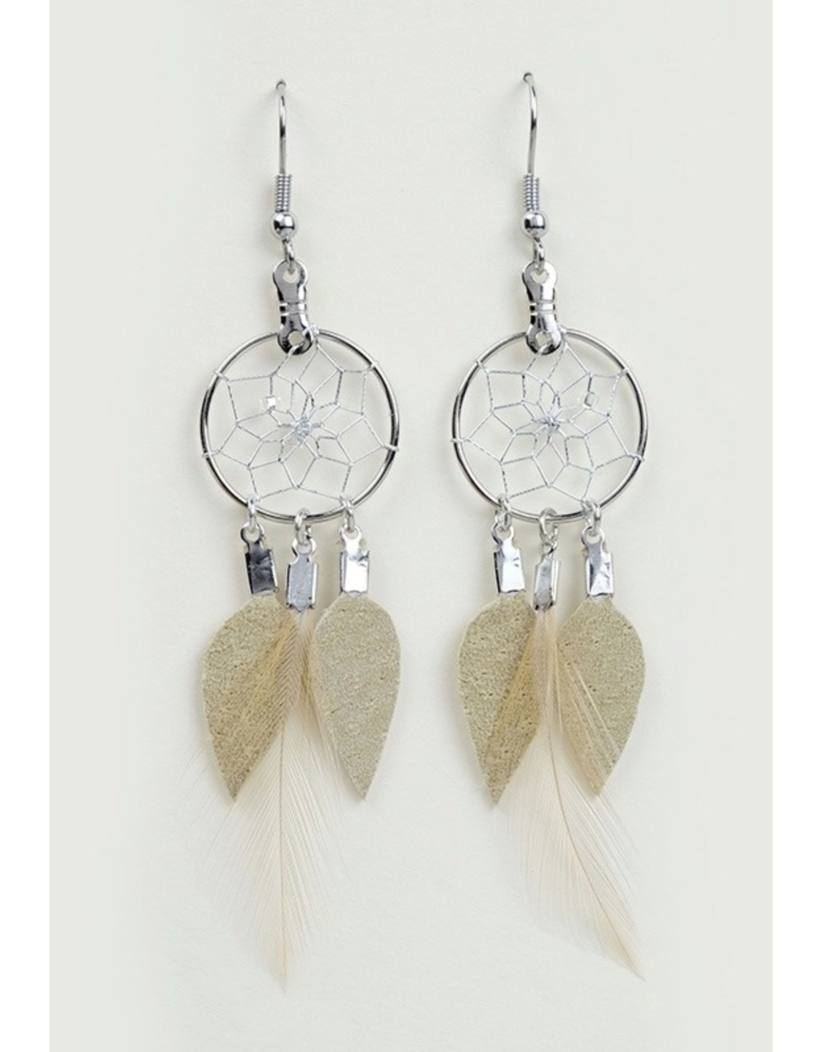 Dreamcatcher and Feather Earrings - DC1010