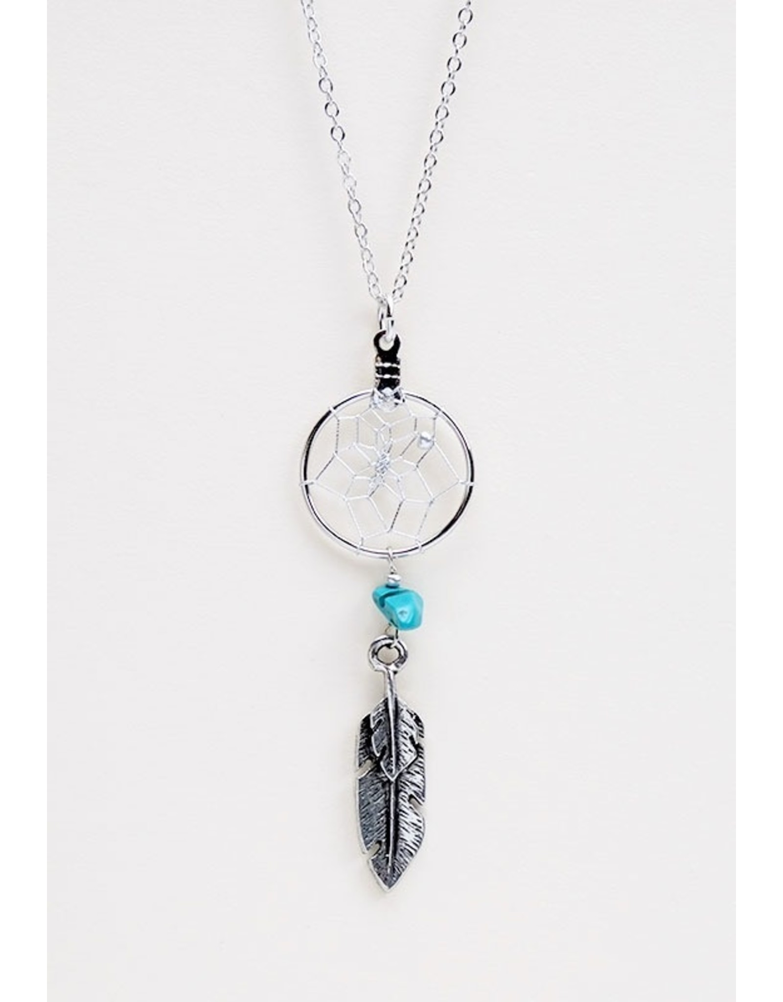 Dreamcatcher Necklace with Turquoise - DC5-P