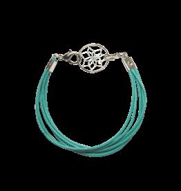 Bracelet en cuir avec capteur de rêves
