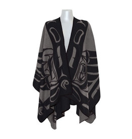 Reversible Wrap - Grey & Black Eagle