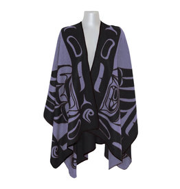 Reversible Wrap - Purple & Black Eagle