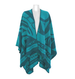 Reversible Wrap - Teal Whale