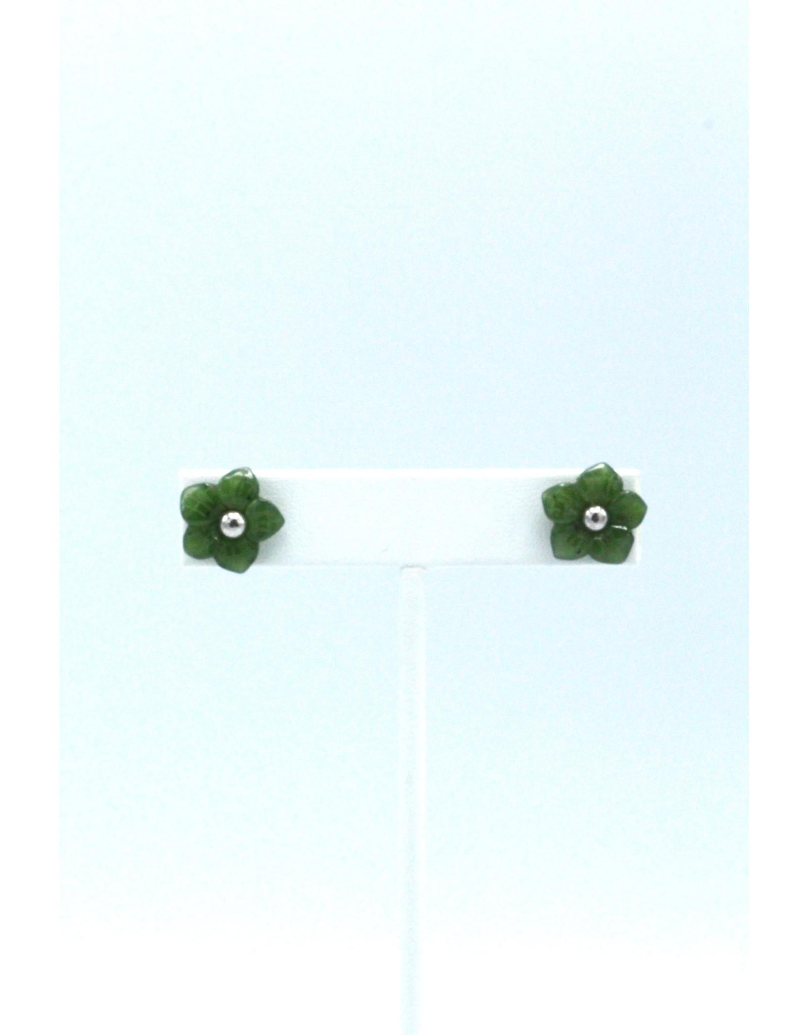 Boucles d'oreilles en fleur jade - JES72
