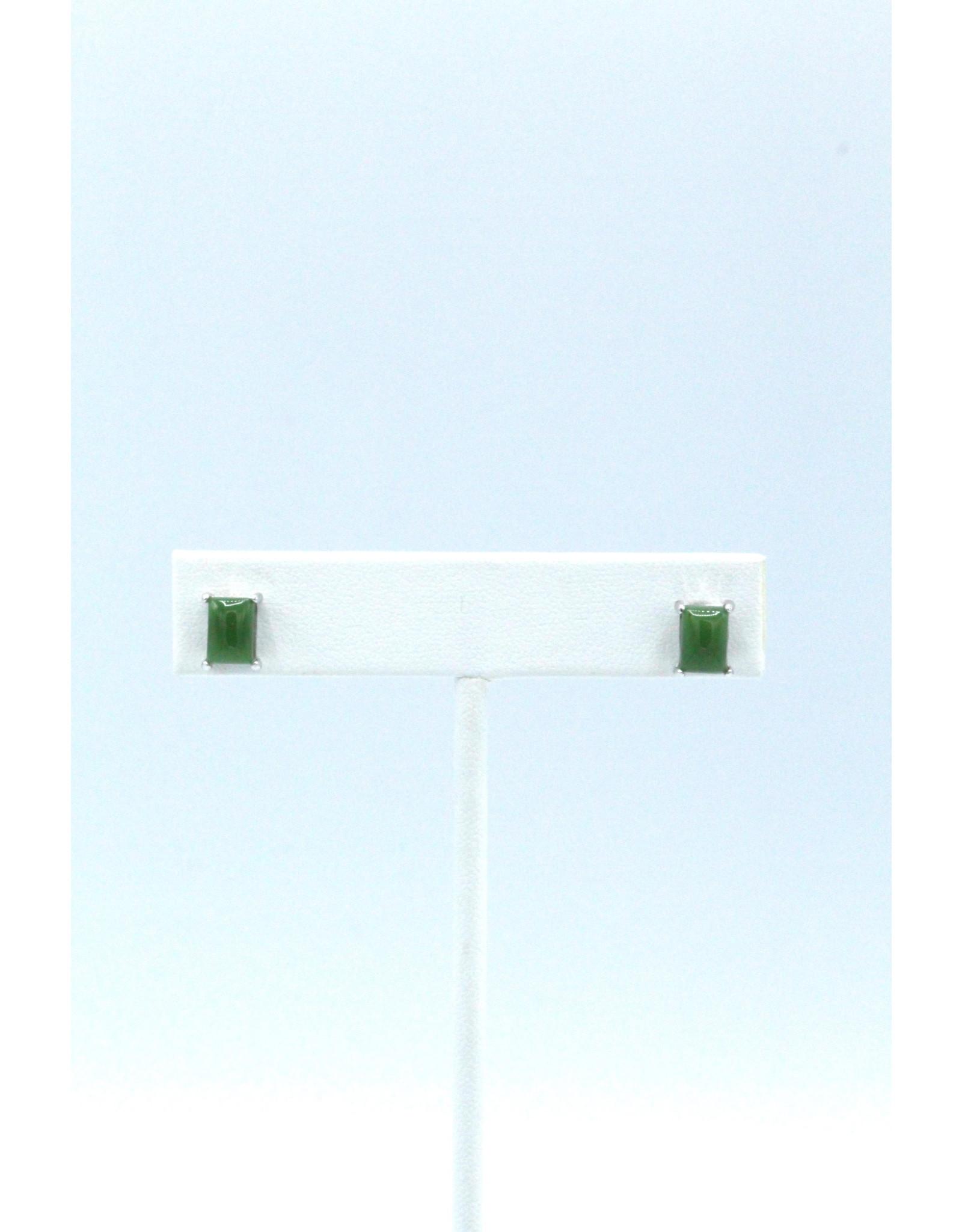 Rectangular Jade Earrings - JES58