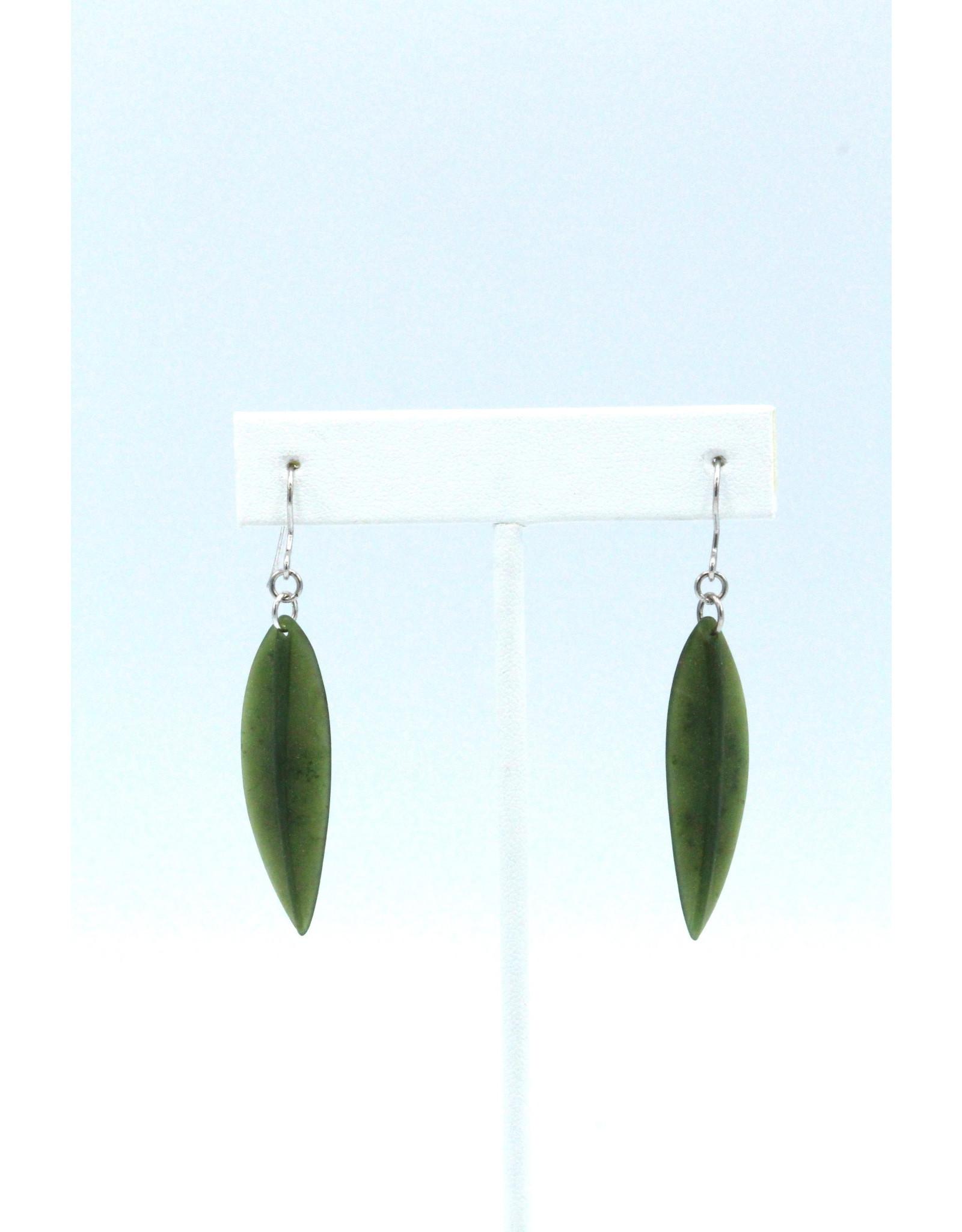 Jade Leaf Earrings - JDS58