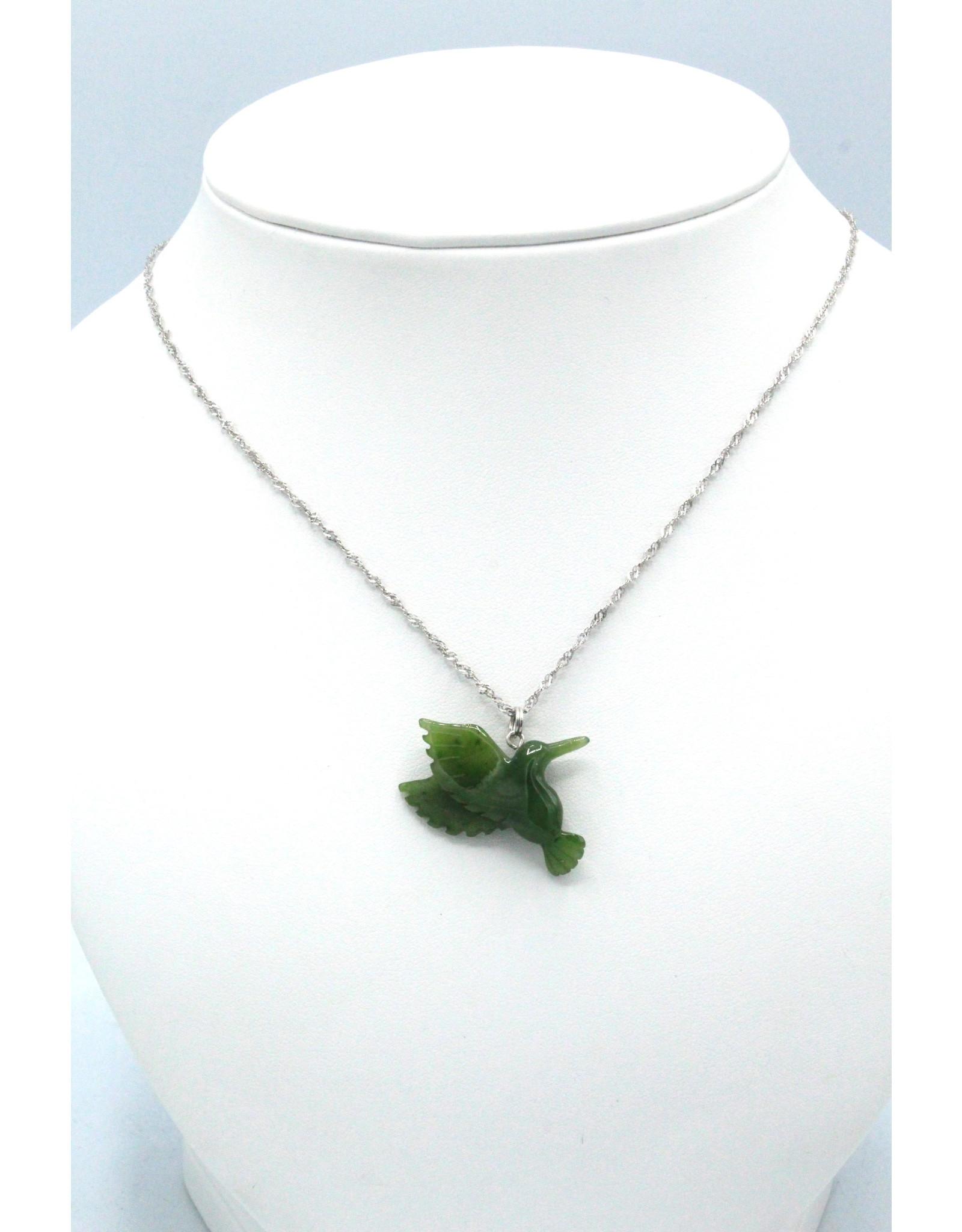 Jade Hummingbird Necklace - JPS118