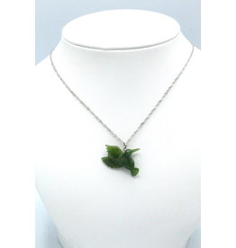 Jade Hummingbird Necklace - JPS118