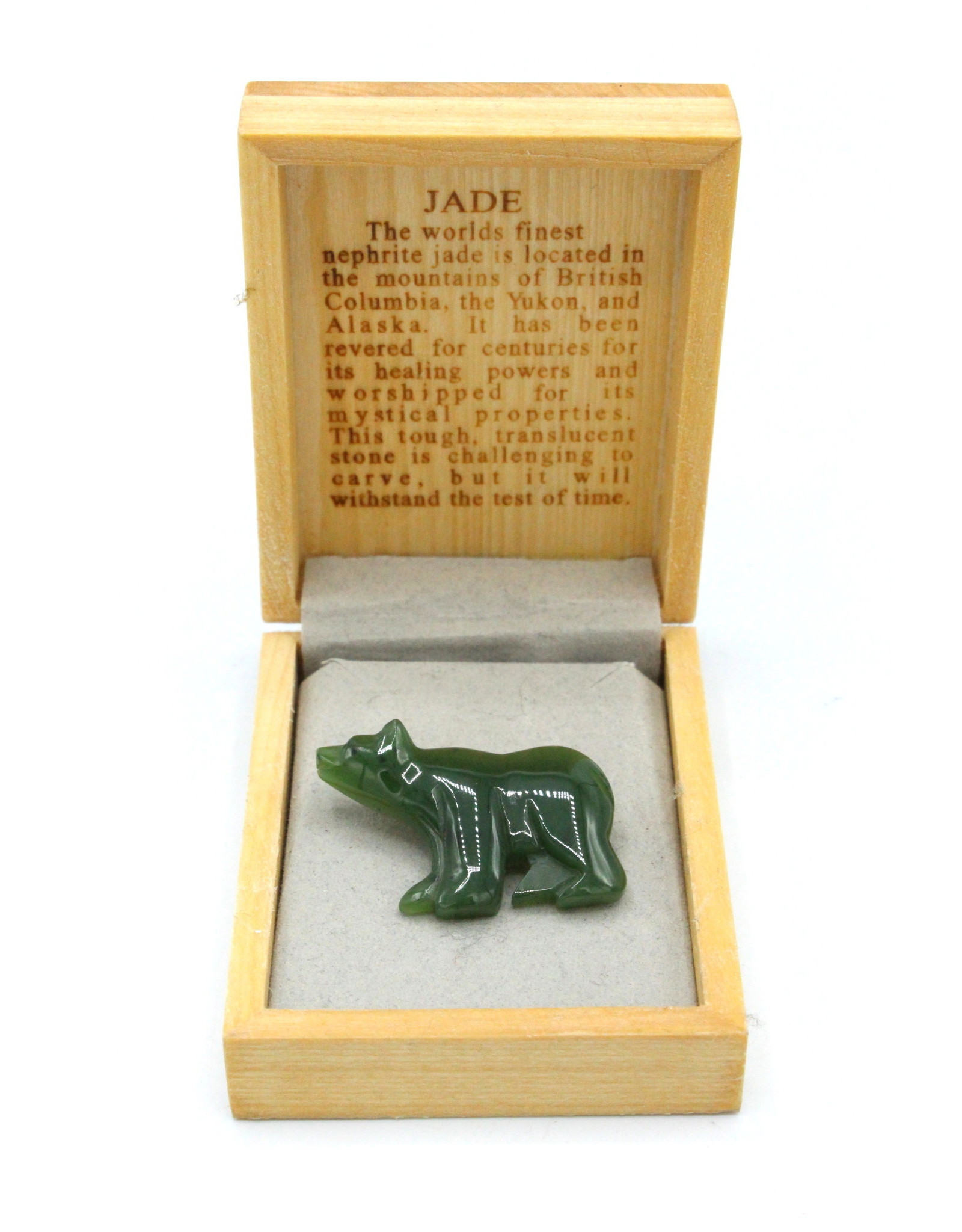 Broche d'ours en Jade - JPIN3