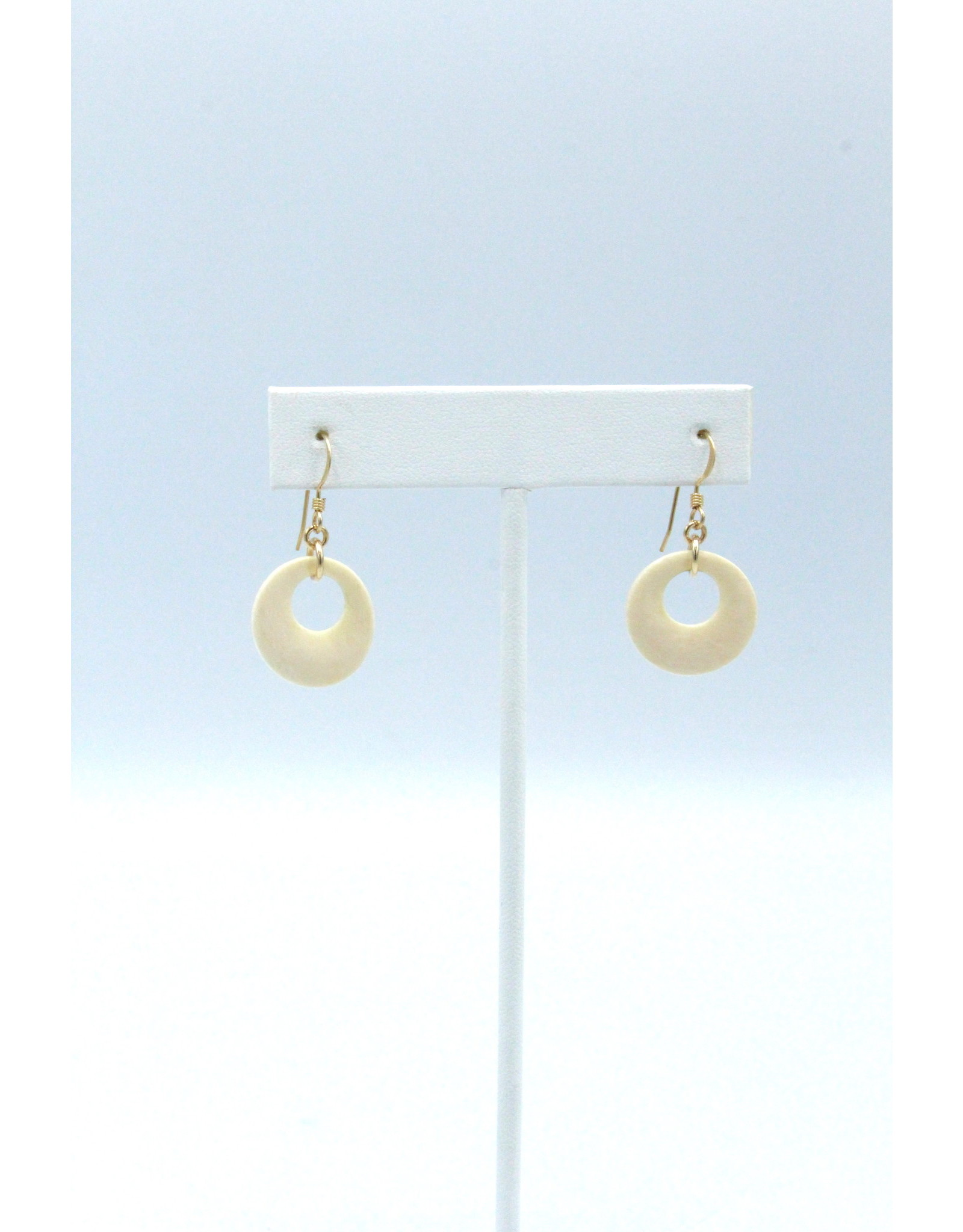 Fossilized Mammoth Ivory Earrings - MD69