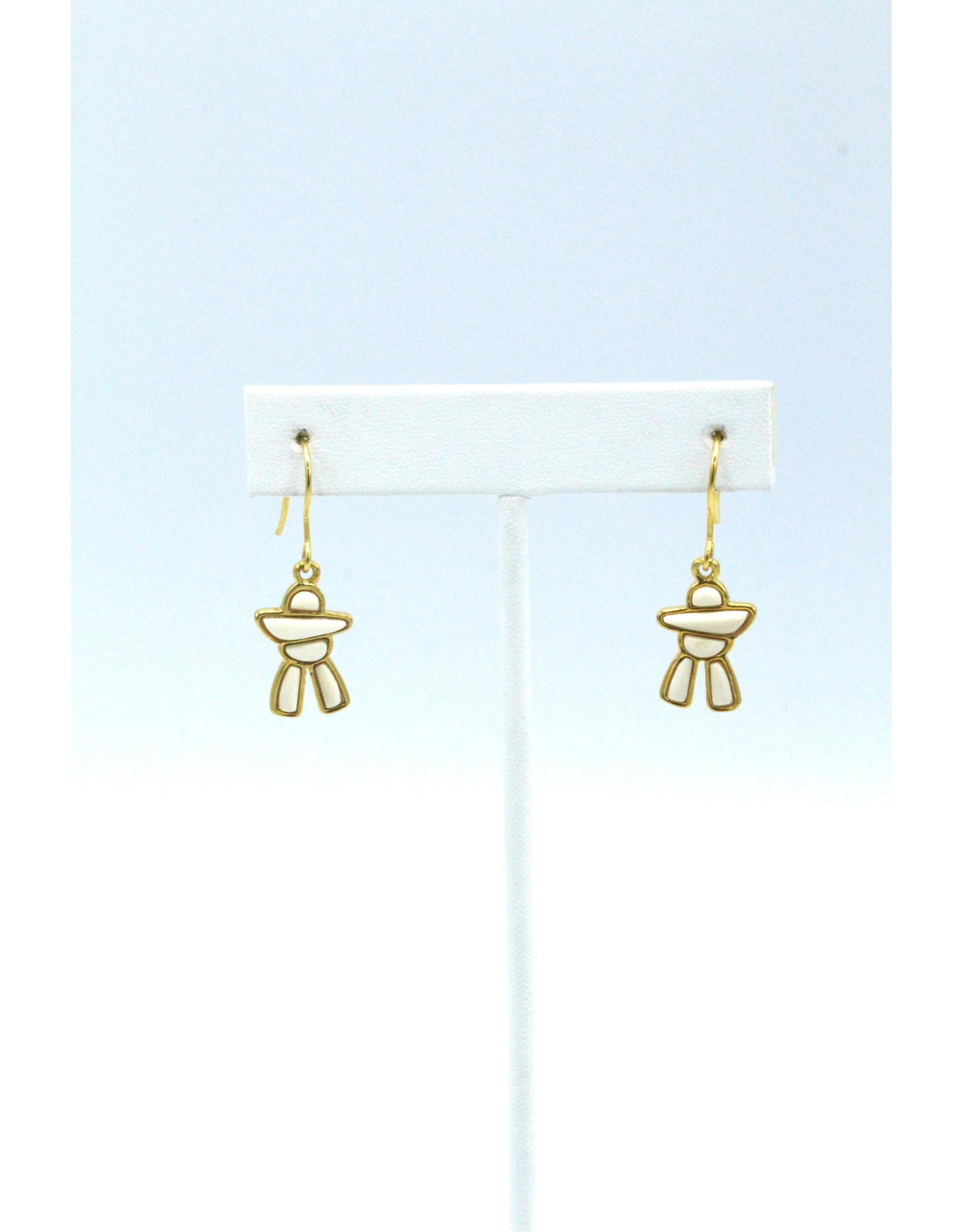Inukshuk Mammoth Ivory Earrings - MES57G