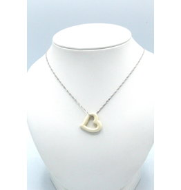 Open Heart Fossilized Mammoth Ivory Necklace - MPS117