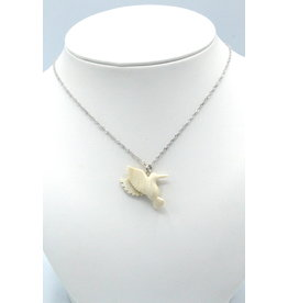 Hummingbird Fossilized Mammoth Ivory Necklace - MPS118