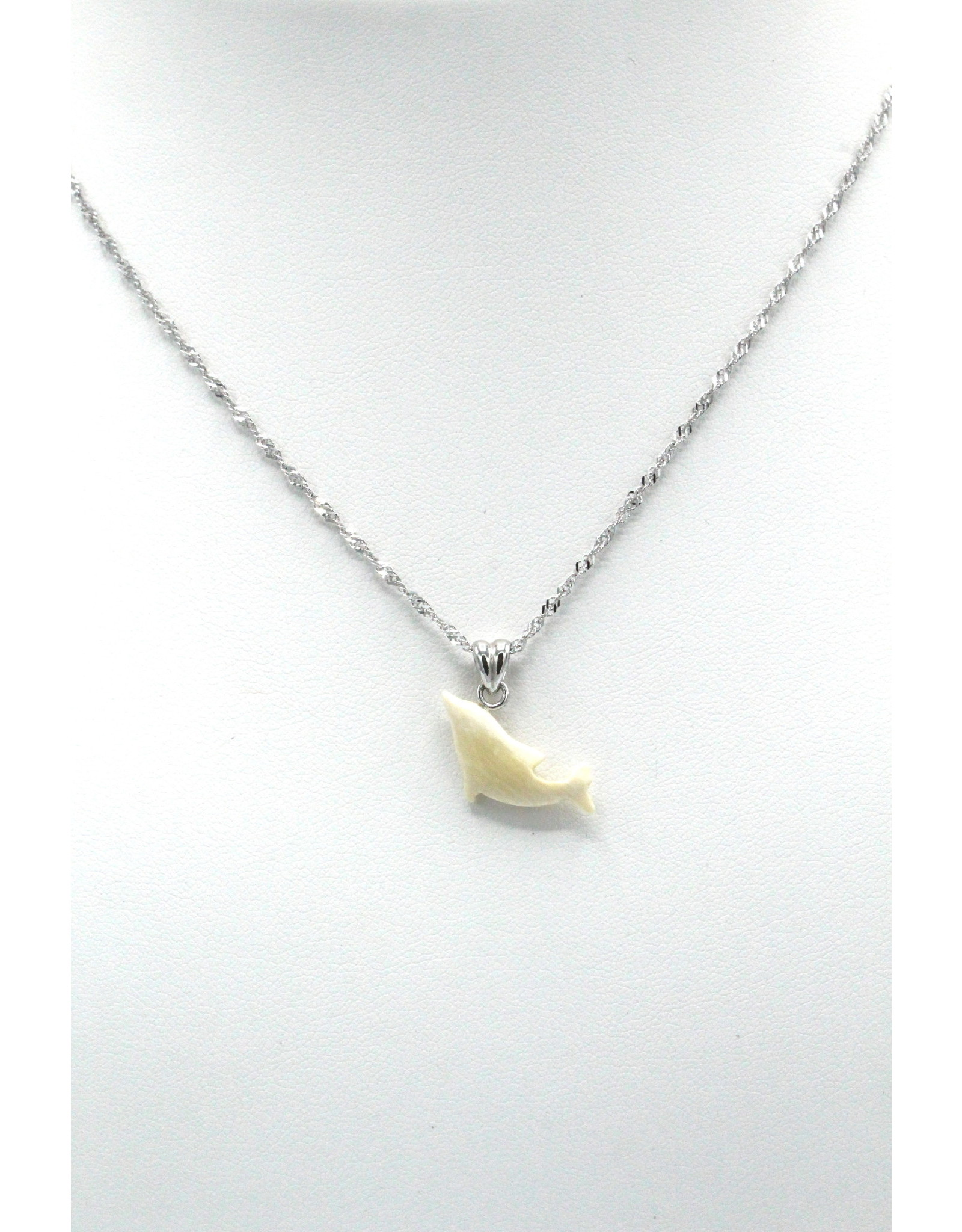 Dolphin Mammoth Ivory Pendant - MPS58