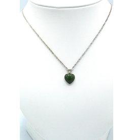 Collier coeur en Jade - JPS55