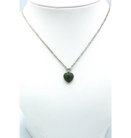 Jade Heart Necklace - JPS55