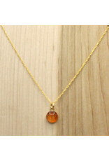 Tiger Lily 8mm Gold Necklace - SK0108G
