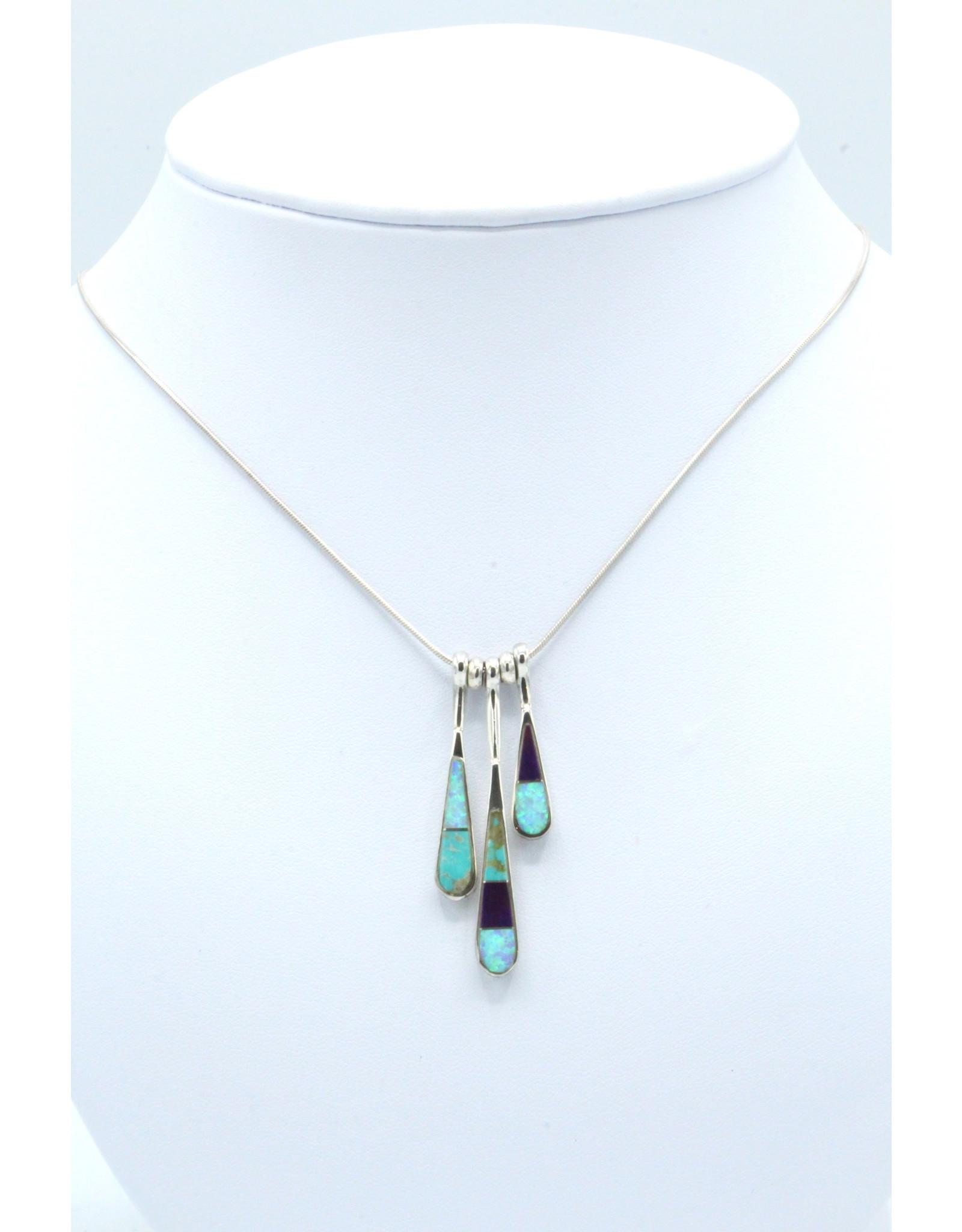 3 Tear Necklace - N108-5