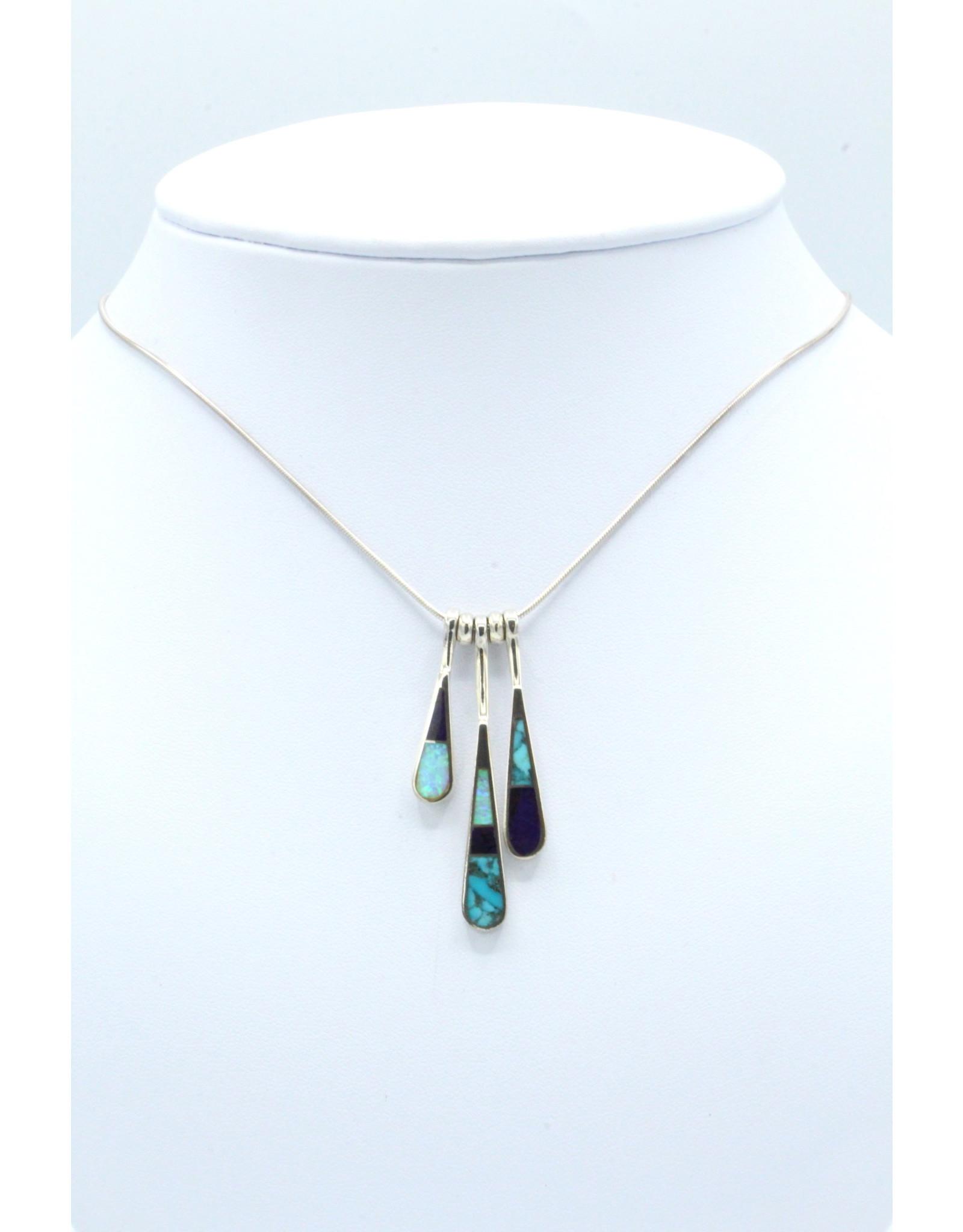 3 Tear Necklace - N108-51
