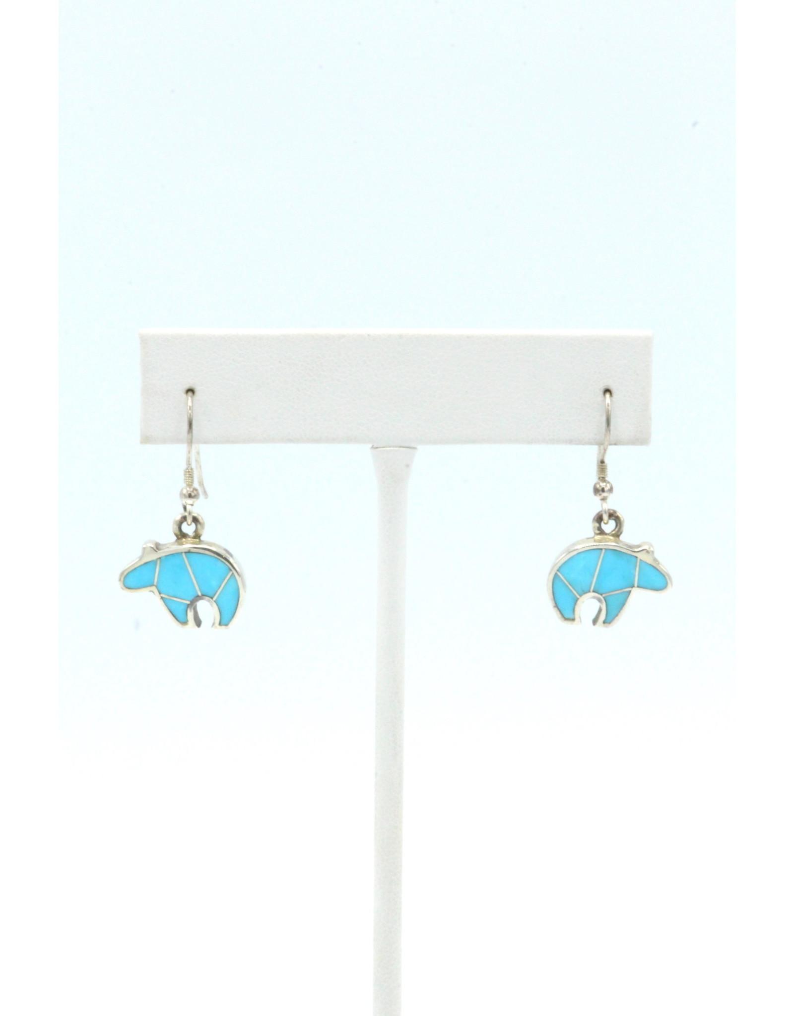 Bear Earrings Turquoise - BET1