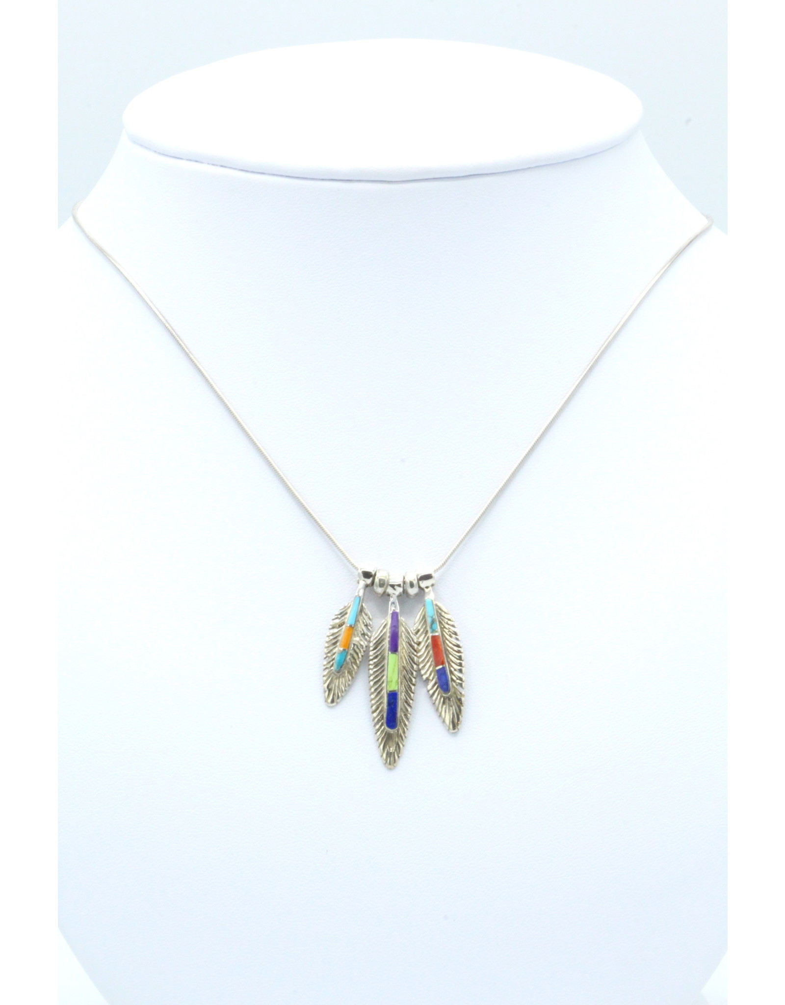 3 Feather Necklace - FNIS1