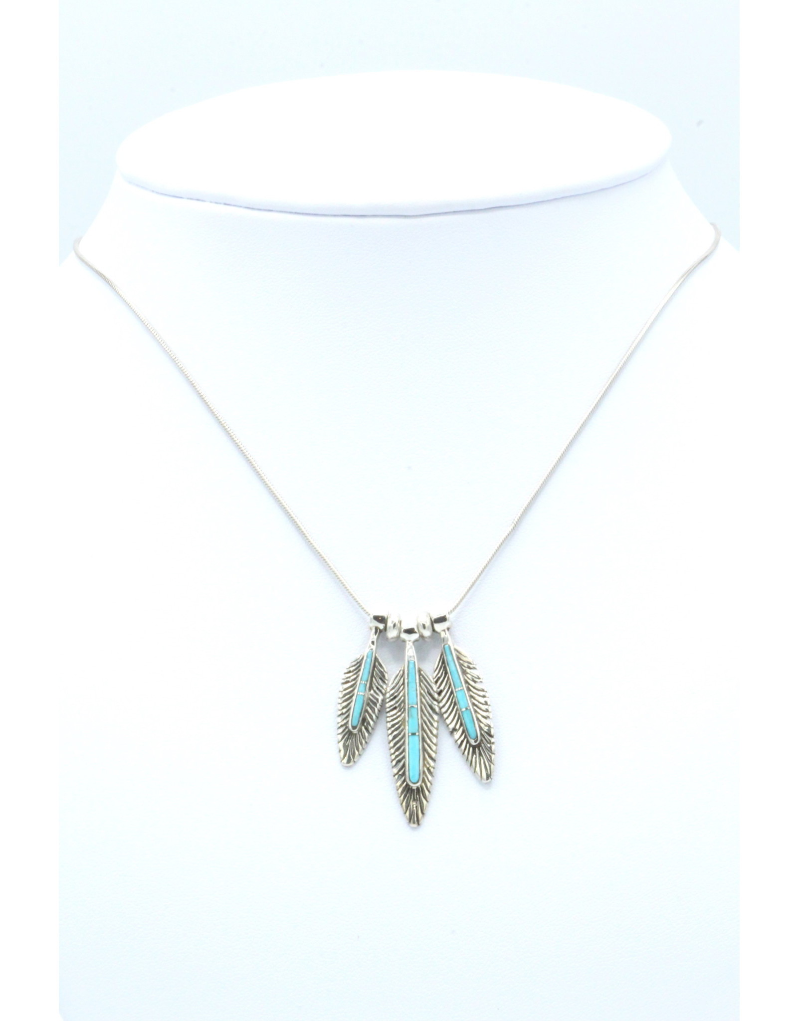 3 Feather Necklace - FNT2