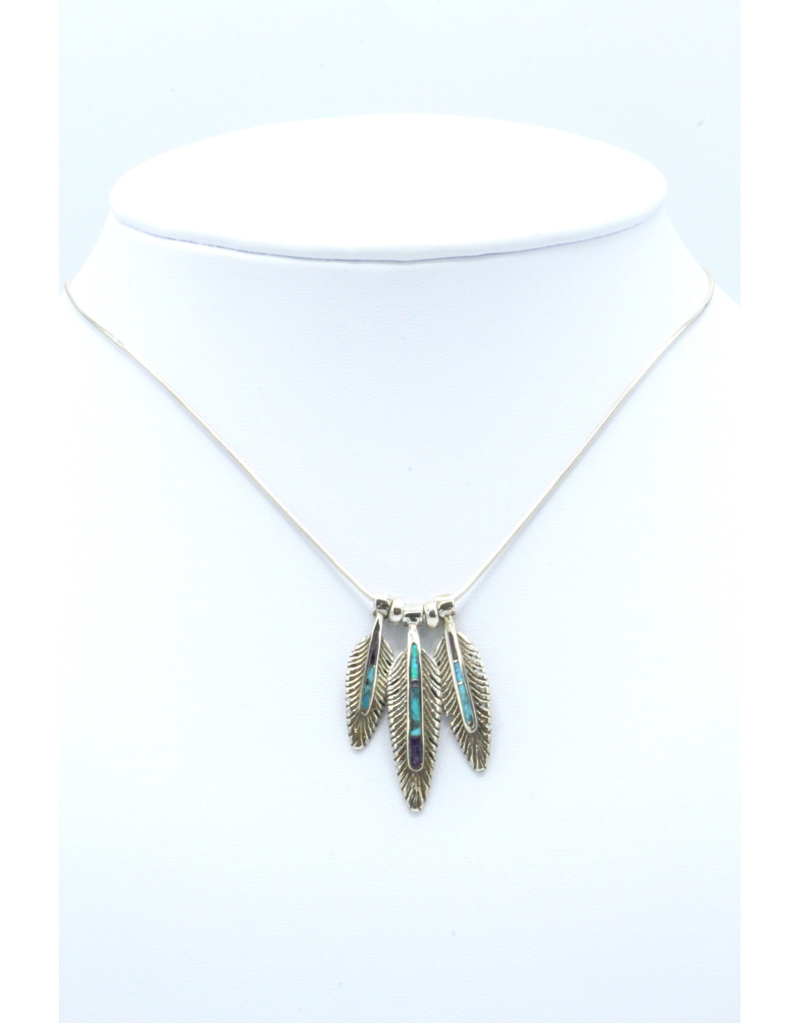 3 Feather Necklace - FNS1