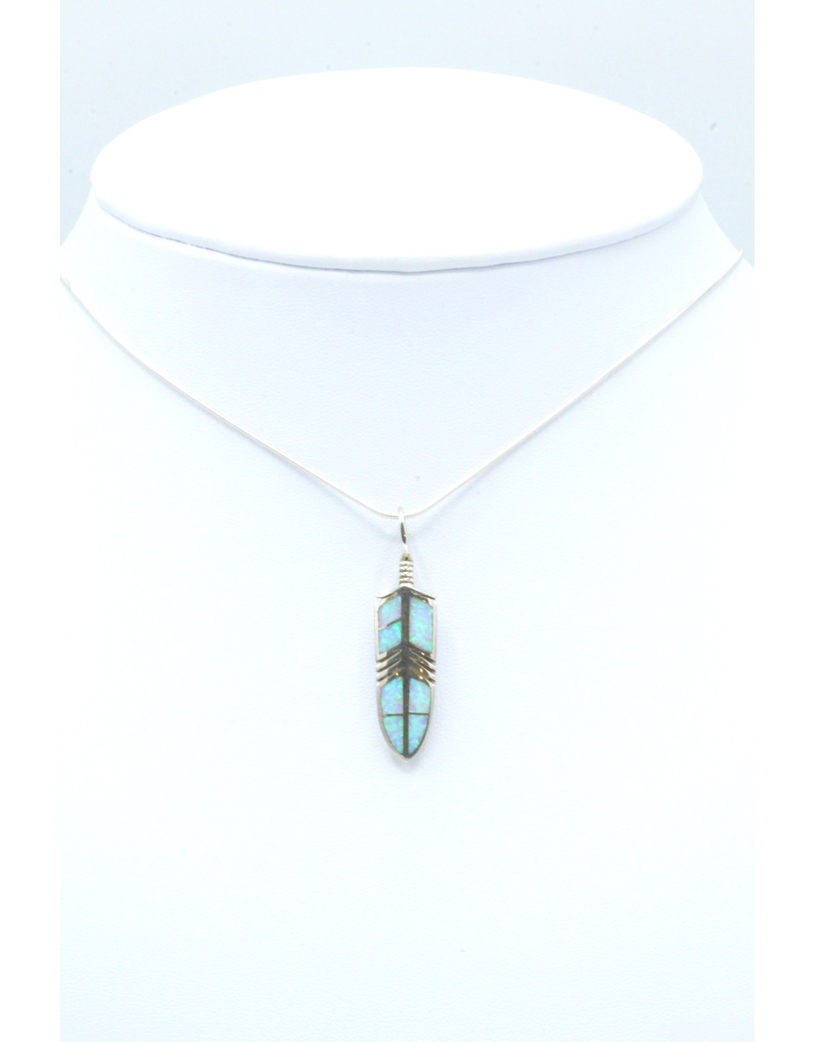 Feather Pendant Opal - FPO160