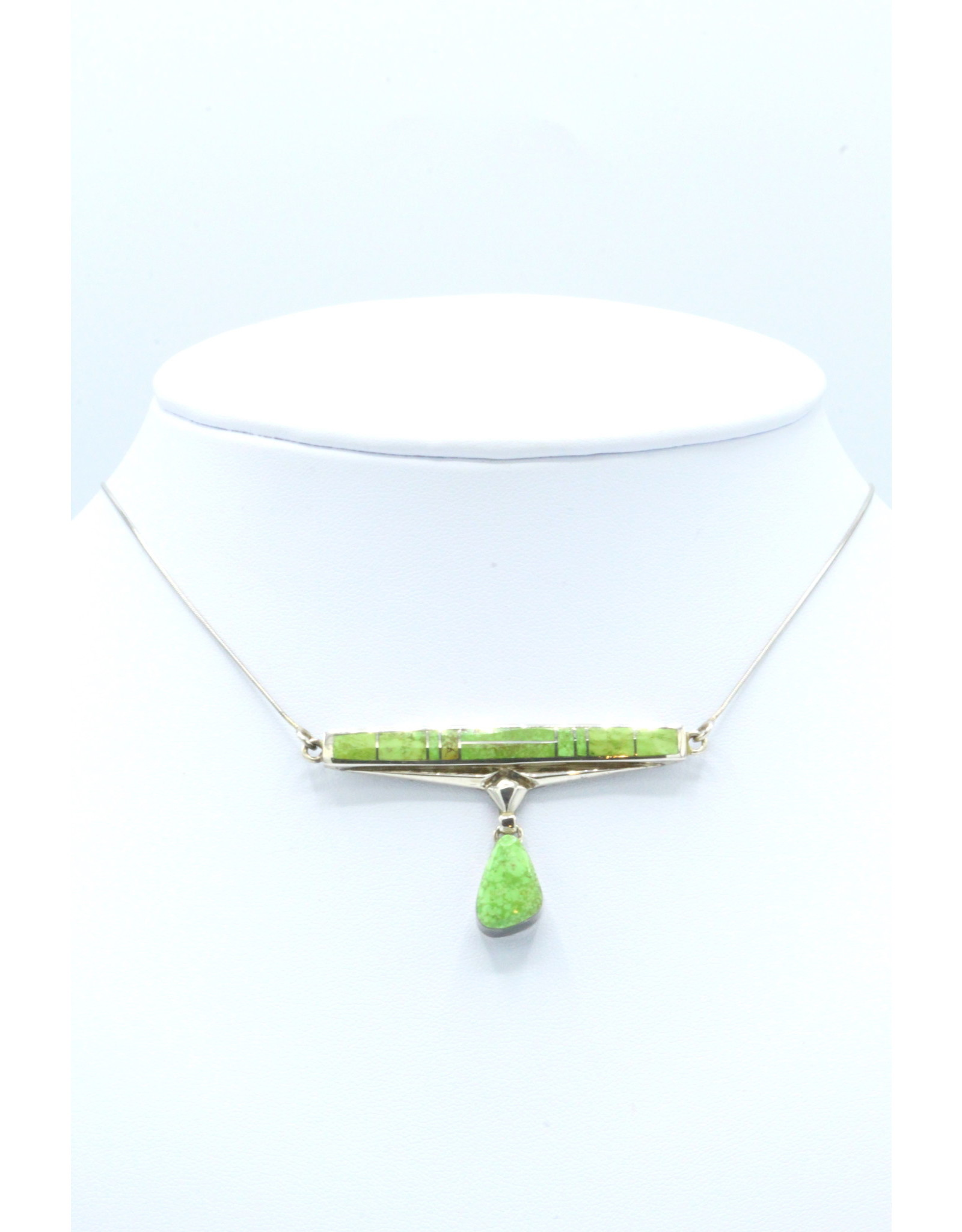 Gaspeite Necklace with Cab - N753-3