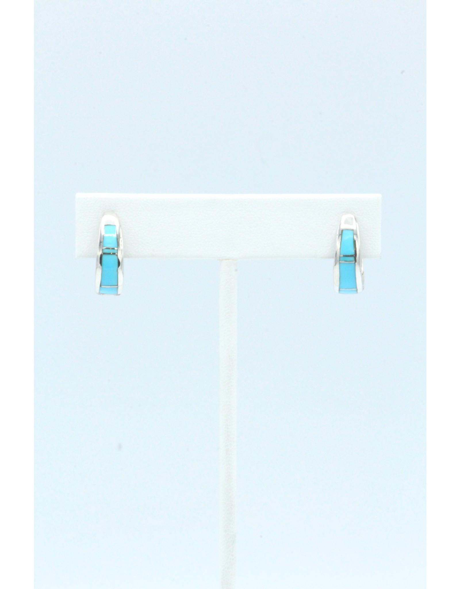 Turquoise Mini Hoop Earrings-ER306-3