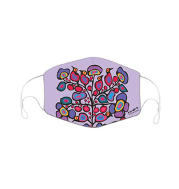 Reusable Face Mask Woodland Floral by Norval Morrisseau