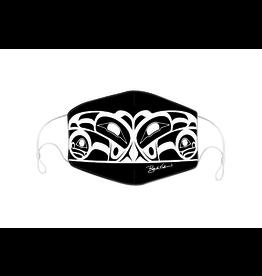 Masque Réutilisable Raven (Noir) par Roy Henry Vickers