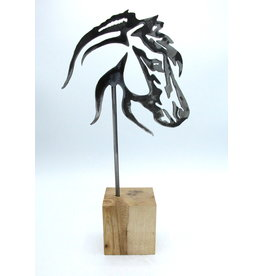Sculpture en Métal - Tête de Cheval